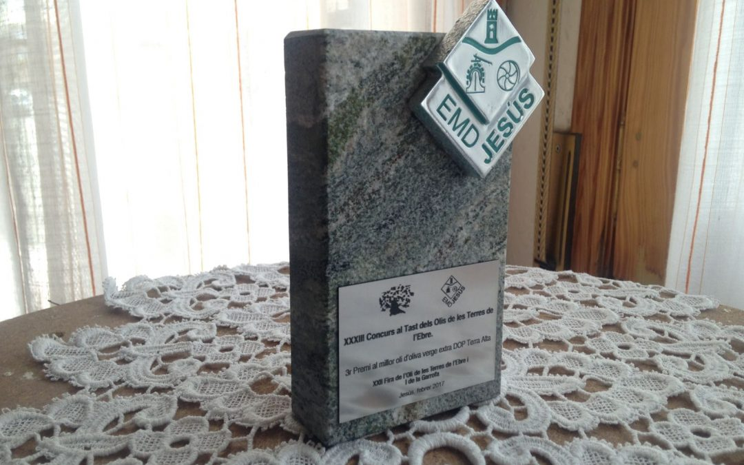 3r Premio al mejor aceite de oliva virgen extra DOP Terra Alta