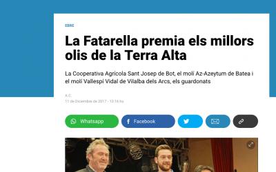 Nuestro aceite de oliva Empeltre en el Diaridetarragona.com