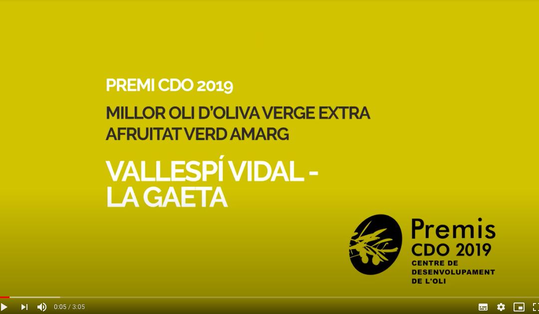Premis CDO - millor oli d'oliva verge extra